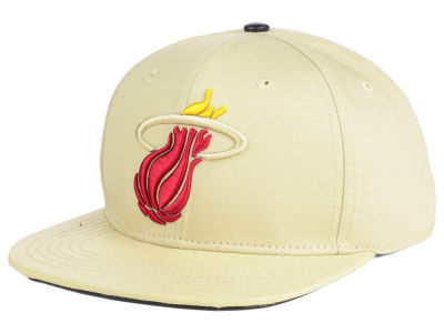 Miami Heat Pro Standard NBA Cream Leather Strapback Cap