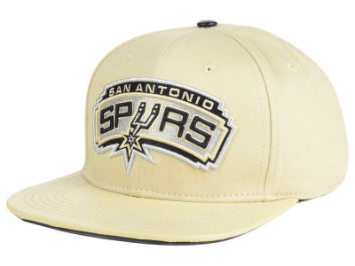 San Antonio Spurs Pro Standard NBA Cream Leather Strapback Cap