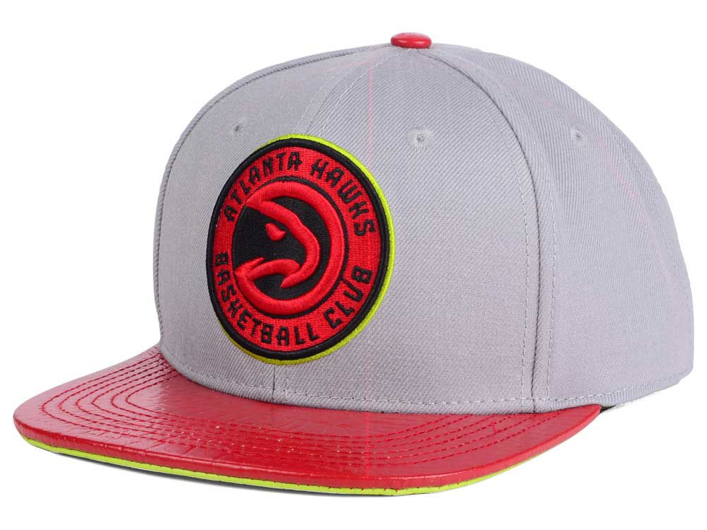7c8d4e85 good atlanta hawks pro standard nba gray leather strapback cap 14cef 410c0
