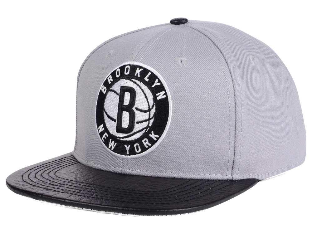 buy popular fffde b4a56 ... ireland brooklyn nets pro standard nba gray leather strapback cap 50358  829e7
