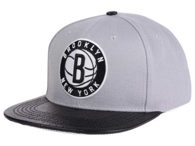 Brooklyn Nets Pro Standard NBA Gray Leather Strapback Cap