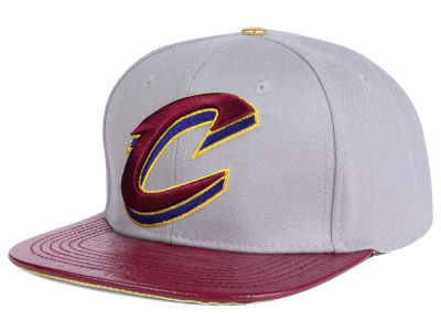 Cleveland Cavaliers Pro Standard NBA Gray Leather Strapback Cap