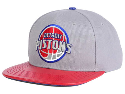 Detroit Pistons Pro Standard NBA Gray Leather Strapback Cap