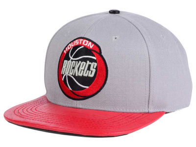 Houston Rockets Pro Standard NBA Gray Leather Strapback Cap