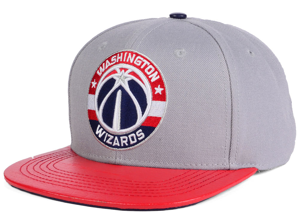 separation shoes fe19d 8fb5a where can i buy washington wizards pro standard nba gray leather strapback  cap d5fd0 bdd72