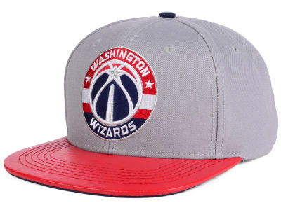 Washington Wizards Pro Standard NBA Gray Leather Strapback Cap
