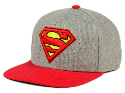 DC Comics Embroidered Logo Heather Snapback Hat