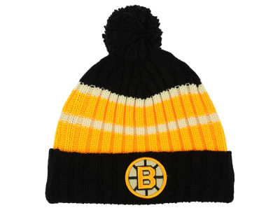 Boston Bruins Reebok NHL CCM Pom Knit