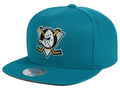 Anaheim Ducks Mitchell and Ness NHL Wool Solid Snapback Cap