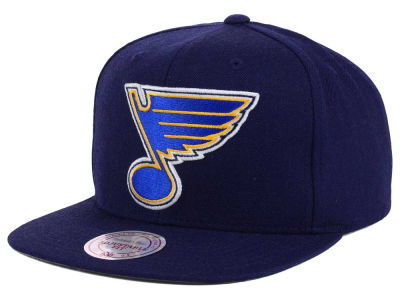St. Louis Blues Mitchell and Ness NHL Wool Solid Snapback Cap