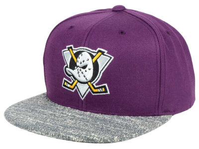 Anaheim Ducks NHL Mitchell and Ness Gray Noise Snapback Cap