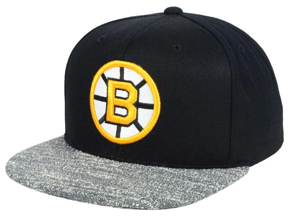 147cedeea new zealand boston bruins mitchell ness nhl gray noise snapback cap ...