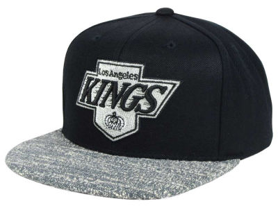 Los Angeles Kings NHL Mitchell and Ness Gray Noise Snapback Cap