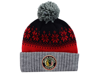 Chicago Blackhawks NHL Mitchell and Ness Snowflake Knit