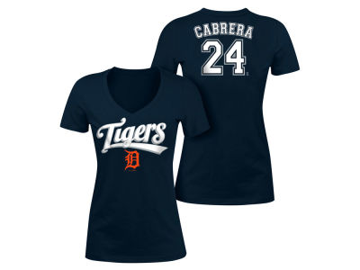Detroit Tigers Miguel Cabrera 5th & Ocean MLB Women's Foil Player V-Neck T-Shirt