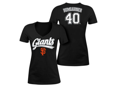San Francisco Giants Madison Bumgarner 5th & Ocean MLB Women's Foil Player V-Neck T-Shirt