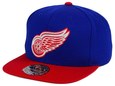 Detroit Red Wings NHL Current Throwback Fitted Cap