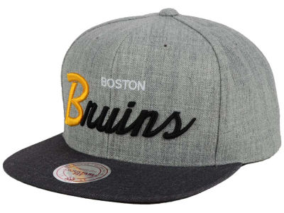 Boston Bruins NHL Tri-Pop Script Snapback Cap