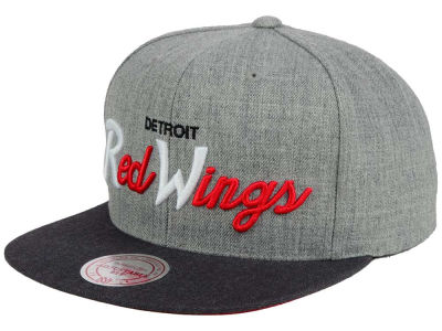 Detroit Red Wings NHL Tri-Pop Script Snapback Cap