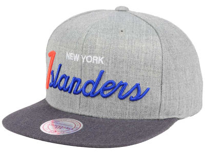 New York Islanders NHL Tri-Pop Script Snapback Cap