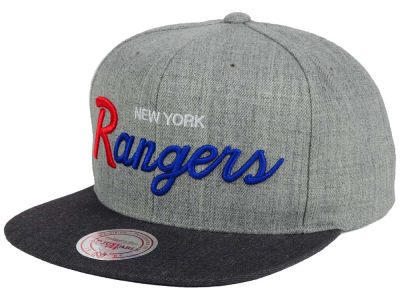 New York Rangers NHL Tri-Pop Script Snapback Cap