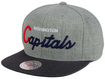 Washington Capitals NHL Tri-Pop Script Snapback Cap