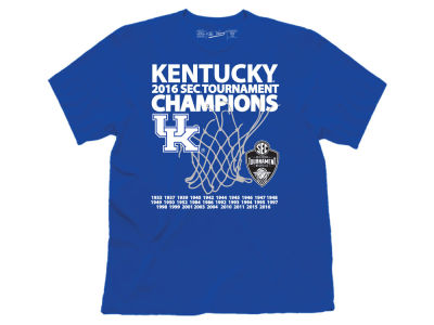 Kentucky Wildcats Retro Brand NCAA Men's SEC Tourney Champ Date T-Shirt