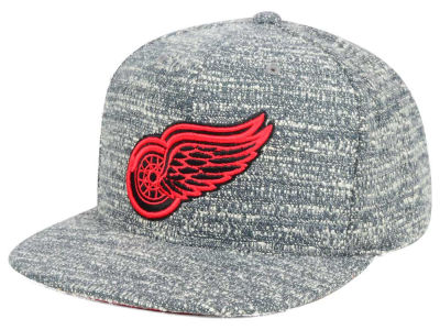 Detroit Red Wings NHL Mitchell and Ness Gray Noise Snapback Cap