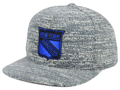 New York Rangers NHL Gray Noise Snapback Cap