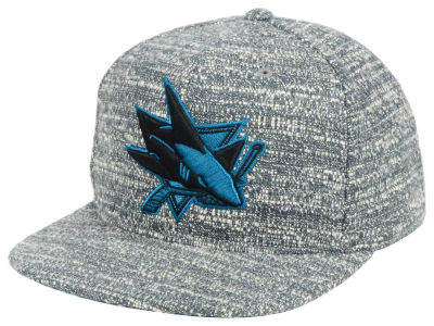 San Jose Sharks NHL Mitchell and Ness Gray Noise Snapback Cap