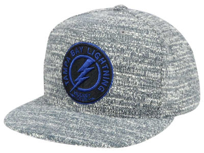 Tampa Bay Lightning NHL Mitchell and Ness Gray Noise Snapback Cap