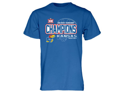 Kansas Jayhawks Blue 84 NCAA Big 12 Tournament Champ T-shirt