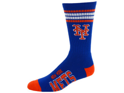 New York Mets 4 Stripe Deuce Crew 504 Sock
