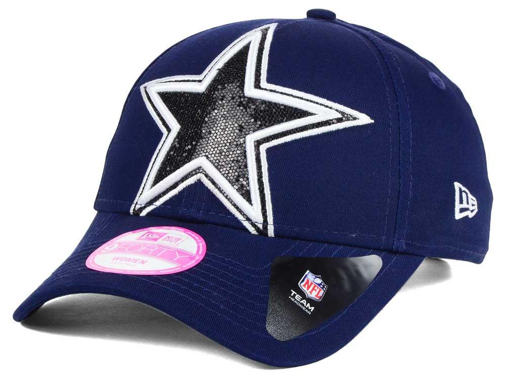 Dallas Cowboys New Era NFL Women s Glitter Glam 2.0 9FORTY Cap ... 17f29a97d