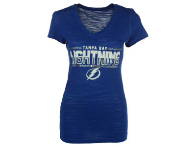 Tampa Bay Lightning NHL Women's Sequin Marled T-Shirt