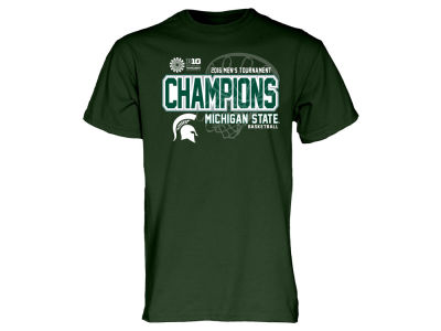 Michigan State Spartans Blue 84 NCAA Big 10 Basketball Tournament Champ LR T-Shirt