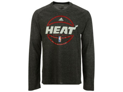 Miami Heat adidas NBA Men's Climalite Pregame Long Sleeve T-Shirt