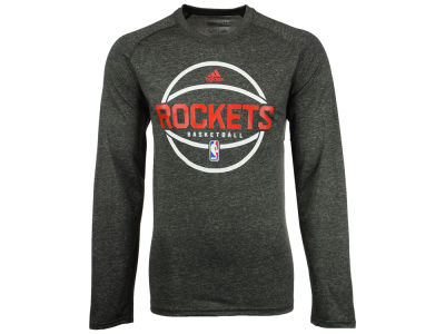 Houston Rockets adidas NBA Men's Climalite Pregame Long Sleeve T-Shirt
