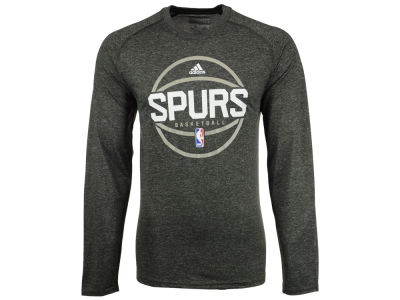 San Antonio Spurs adidas NBA Men's Climalite Pregame Long Sleeve T-Shirt