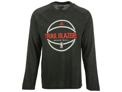 Portland Trail Blazers adidas NBA Men's Climalite Pregame Long Sleeve T-Shirt