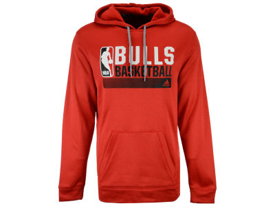 Chicago Bulls adidas NBA Men's Full Primary Logo Climalite Hoodie