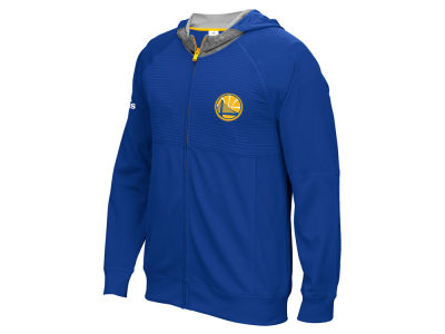 Golden State Warriors adidas NBA Men's Pre Game Full Zip Hooded Jacket