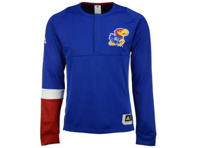 Kansas Jayhawks adidas NCAA Men's Long Sleeve On Court Shooter Pullover