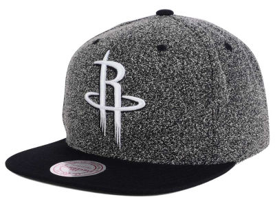 Houston Rockets Mitchell and Ness NBA Black White Static Logo Snapback Cap