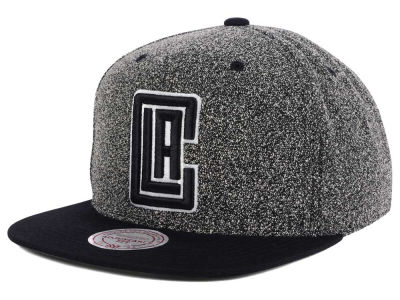 Los Angeles Clippers Mitchell and Ness NBA Black White Static Logo Snapback Cap