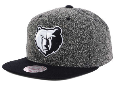 Memphis Grizzlies Mitchell and Ness NBA Black White Static Logo Snapback Cap