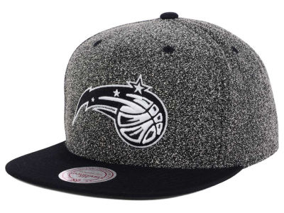 Orlando Magic Mitchell and Ness NBA Black White Static Logo Snapback Cap
