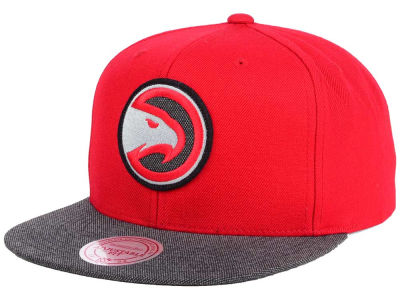 Atlanta Hawks Mitchell and Ness NBA Team Color Cation Snapback Cap