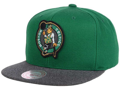 Boston Celtics Mitchell and Ness NBA Team Color Cation Snapback Cap