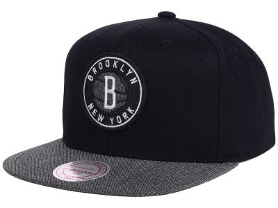 Brooklyn Nets Mitchell and Ness NBA Team Color Cation Snapback Cap